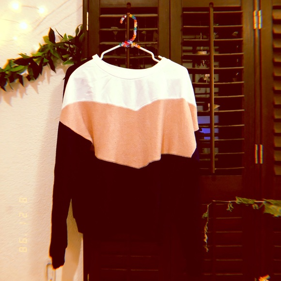 flirtitude Tops - Blue White and Pink Sweater.